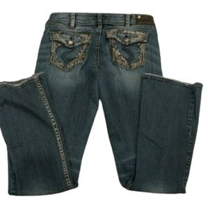 Silver Suki denim bling jeans